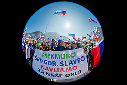 Fans from Prekmurje during Ski Flying Hill Individual Competition at Day 4 of FIS Ski Jumping World Cup Final 2016, on March 20, 2016 in Planica, Slovenia. Photo by Vid Ponikvar / Sportida