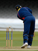 London, GREAT BRITAIN, MCC's, Darren BICKNELL, is bowled by John Blain for 23 during the MCC vs Europe Match at Lords Cricket ground, England on Thur 07.06.2007  [Photo, Peter Spurrier/Intersport-images].....