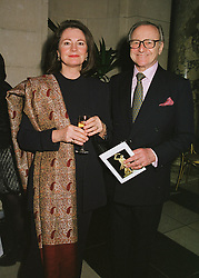 MR & MRS DAVID JACOBS he is the broadcaster, at a reception in London on 1st March 1999.MOW 33
