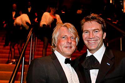 NLD/Amsterdam/20081211 - Miljonairfair 2008, Piet Boon en een vriend