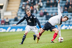 Dundee's James McAlister and Falkirk's Will Vaulks.<br /> Dundee 0 v 1 Falkirk, Scottish Championship game played today at Dundee's Dens Park.<br /> &copy; Michael Schofield.