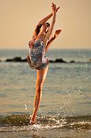 Dance As Art  New York City Photography Coney Island Boardwalk with dancer,