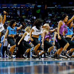 Mar 22, 2013; New Orleans, LA, USA; New Orleans Hornets Honeybees dance team performs during the second half of a game against the Memphis Grizzlies at the New Orleans Arena. The Hornets defeated the Grizzlies 90-83.  Mandatory Credit: Derick E. Hingle-USA TODAY Sports
