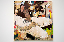 © licensed to London News Pictures. LOCATION:Gagosian.Gallery, 6-24 Britannia Street, London Postcode WC1X 9JD..27_06_11.Exhibition of recent work by renowned Japanese  artist Takashi Murakami. ..Pictured: Shunga: Gibbons, 2010...Please see special instructions for usage rates. Photo credit should read: Tim Roberts/LNP