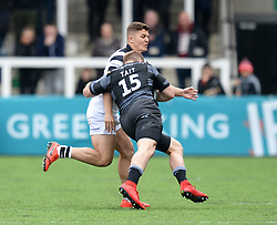 Luke Daniels of Bristol Bears tackles Alex Tait of Newcastle Falcons  - Mandatory by-line: Richard Lee/JMP - 18/05/2019 - RUGBY - Kingston Park Stadium - Newcastle upon Tyne, England - Newcastle Falcons v Bristol Bears - Gallagher Premiership Rugby
