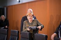 DEU, Deutschland, Germany, Berlin,31.01.2018: Bundeskanzlerin Dr. Angela Merkel (CDU) vor Beginn der 169. Kabinettsitzung im Bundeskanzleramt.