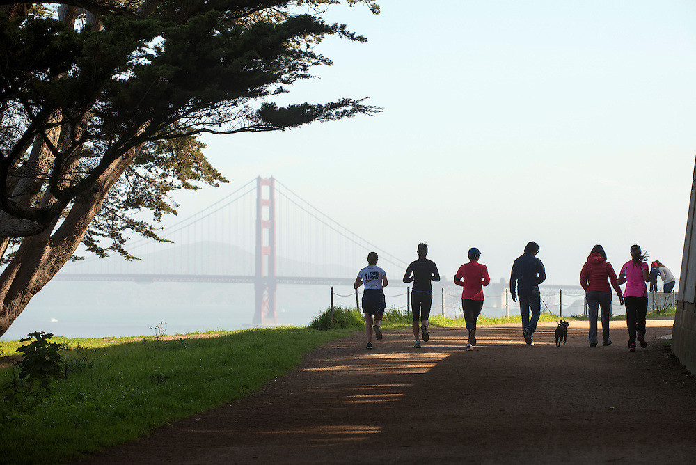 Land's End Trail and the Golden Gate Bridge, San Francisco, California
