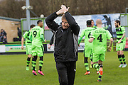 Forest Green Rovers manager Ady Pennock during the Vanarama National League match between Forest Green Rovers and Eastleigh at the New Lawn, Forest Green, United Kingdom on 20 February 2016. Photo by Shane Healey.