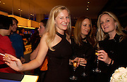 Alannah Weston, Emily Oppenheimer Turner and Kadee Robbins, 2004 Frieze Art Fair curatorial programme Cartier dinner. Yauacha, Broadwick St. 13 October 2004. ONE TIME USE ONLY - DO NOT ARCHIVE  © Copyright Photograph by Dafydd Jones 66 Stockwell Park Rd. London SW9 0DA Tel 020 7733 0108 www.dafjones.com