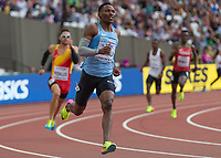 Athletics - 2017 IAAF London World Athletics Championships - Day Two (AM Session)<br /> <br /> Event: Mens 400m Heat 5<br /> <br /> Isaac Makwala (BOT) rounds the bend in the last 200m of his heat <br /> <br /> <br /> COLORSPORT/DANIEL BEARHAM