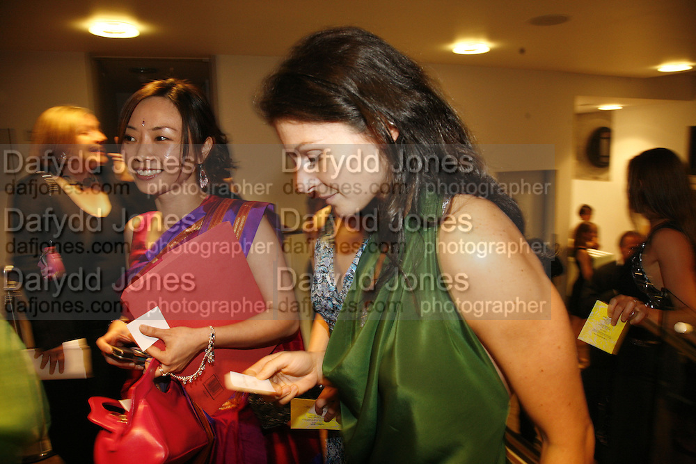 Charlene Lim and Fabiana Piccioli, Sadler's Wells Celebrates. Benefit evening for Sadler's Wells hosted by Angela Bernstein and Alistair Spalding. The Royal Horticultural Halls. London. 25 September 2006. -DO NOT ARCHIVE-© Copyright Photograph by Dafydd Jones 66 Stockwell Park Rd. London SW9 0DA Tel 020 7733 0108 www.dafjones.com