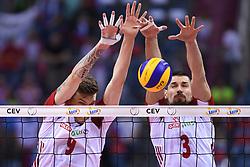 Bartlomiej Lemanski, Dawid Konarski of Poland during the European Championship game Poland - Slovenia on August 30, 2017 in Krakow, Poland. (Photo by Krzysztof Porebski / Press Focus)