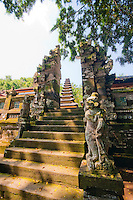 Stairs, statues and towers at Pura Kehen Temple near Bangli in Eastern Bali Indonesia