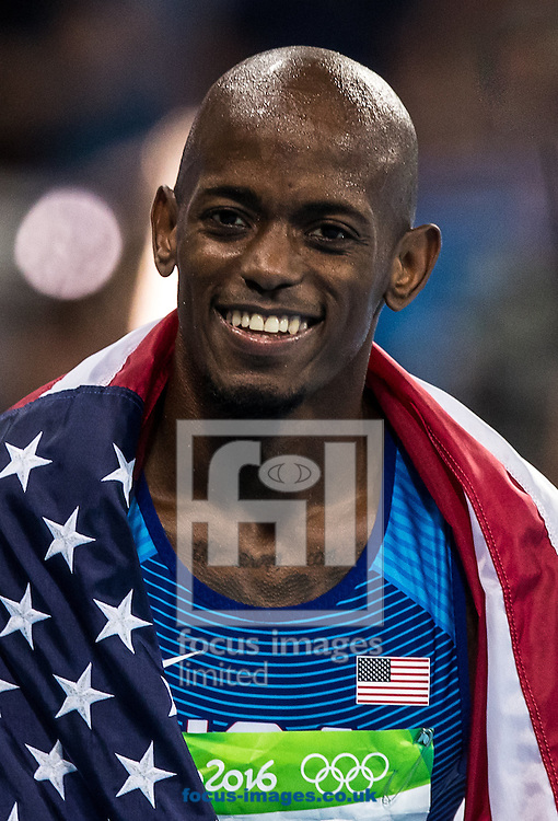 Jeff Henderson of the USA wins the Gold Medal in the Men's Long Jump on day eight of the XXXI 2016 Olympic Summer Games in Rio de Janeiro, Brazil.<br /> Picture by EXPA Pictures/Focus Images Ltd 07814482222<br /> 13/08/2016<br /> *** UK &amp; IRELAND ONLY ***<br /> <br /> EXPA-GRO-160814-5329.jpg