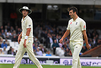 Cricket - 2017 South Africa Tour of England - Third Test, Day Two<br /> <br /> England debutant, Toby Roland - Jones gets some words of advice from team mate Stuart Broad at The Oval.<br /> <br /> COLORSPORT/ANDREW COWIE