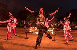 The 2019 Royal Edinburgh Military Tattoo launches its 2019 show Kaleidoscope. Staged on the Edinburgh Castle Esplanade between 2-24 August, the show marks its 69th year.<br /> <br /> Pictured: The Trinidad & Tobago Defence Steel Orchestra