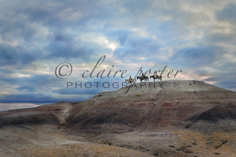 I photographed these horses and cowboys in the mountains near Cody, Wyoming. The Painted Hills, beautiful Aspens, snowy days all were a breathtaking back drop for these scenes. <br />