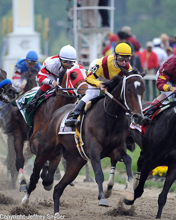 Rachel Alexandra with Jockey Calvin Borel win the 14th running of the Preakness Stkes. This is the 1st time in 85 years that a Filly has won the Preakness.