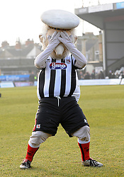 The Grimsby mascot can't look as his side go down 1-0 to Bristol Rovers - Photo mandatory by-line: Neil Brookman/JMP - Mobile: 07966 386802 - 14/02/2015 - SPORT - Football - Cleethorpes - Blundell Park - Grimsby Town v Bristol Rovers - Vanarama Football Conference