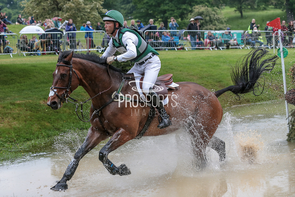 LOUGHAN GLEN ridden by Clark Montgomery who finished second in the Master's competition at Bramham International Horse Trials 2016 at  at Bramham Park, Bramham, United Kingdom on 11 June 2016. Photo by Mark P Doherty.