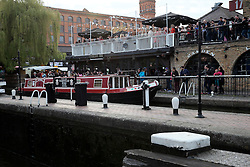 UK ENGLAND LONDON 30APR16 - London Canal boats at Camden Lock, a busy cascade of locks on the Grand Union Canal.<br /> <br /> <br /> <br /> jre/Photo by Jiri Rezac<br /> <br /> <br /> <br /> © Jiri Rezac 2016