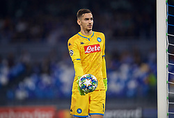 NAPLES, ITALY - Tuesday, September 17, 2019: SSC Napoli's goalkeeper Alex Meret during the UEFA Champions League Group E match between SSC Napoli and Liverpool FC at the Studio San Paolo. (Pic by David Rawcliffe/Propaganda)