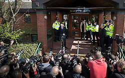 © Licensed to London News Pictures. 16/04/2018. London, UK. TV presenter ANT MCPARTLIN talks briefly to reporters as he leaves Wimbledon Magistrates Court in London - where he pleaded guilty to drink driving. Photo credit: Peter Macdiarmid/LNP