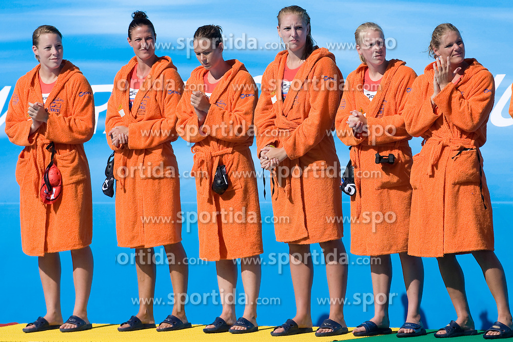 Players of Nederland at Women Waterpolo match between National Teams of Nederlands and New Zeland at 13th FINA World Championships Rome 2009, on July 25 2009, at Foro Italico, Rome, Italy. (Photo by Vid Ponikvar / Sportida)