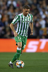February 28, 2019 - Valencia, Valencia, Spain - Joaquin of Betis controls the ball during the Copa del Rey Semi Final match second leg between Valencia CF and Real Betis Balompie at Mestalla Stadium in Valencia, Spain on February 28, 2019. (Credit Image: © Jose Breton/NurPhoto via ZUMA Press)