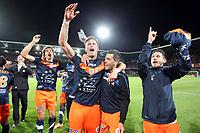 FOOTBALL - FRENCH CHAMPIONSHIP 2011/2012 - L1 - MONTPELLIER HSC v LILLE OSC - 13/05/2012 - PHOTO MANUEL BLONDEAU / DPPI - JOIE DE OLIVIER GIROUD