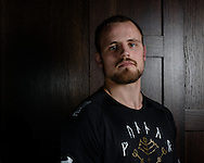 LONDON, ENGLAND, MARCH 5, 2014: Gunnar Nelson poses for a portrait inside One Embankment in London, England (Martin McNeil for ESPN)