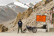 Despite being mid-September, I had to wear every article of clothing in my bag to make over Khardung La, the highest motorable road in the world (18,380ft, 5,602m, 3.5miles!).  I even had socks on my hands to try to keep warm!