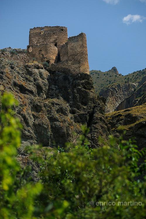Northeastern Anatolia. A Georgian castle near Tortum. The valleys between Erzurum and Yusufeli onve were part of the Kingdom of Georgia.