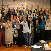 All the delegates of the International Women's Earth and Climate Summit participated in the Draw the Line action organized by 350.org on  Saturday September 21, 2013 in Suffren NY. Leaders from 35+ countries gathered for the drafting of a Women's Climate Action Agenda in Suffern, New York September 20-23rd, 2013 as part of the International Women's Earth and Climate Summit.  For a full list of Summit delegates and an agenda visit www.iweci.org. Photo by Lori Waselchuk/Magazines OUT