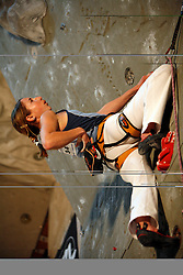 Slovenian climber Martina Cufar at her last world cup competition in Kranj, on November 18, 2006.  (Photo by Vid Ponikvar / Sportal Images)