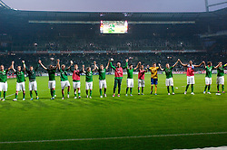 25.09.2011, Weser Stadion, Bremen, GER, 1.FBL, Werder Bremen vs Hertha BSC, im Bild.Dank an die Fans von der Mannschaft.// during the Match GER, 1.FBL, Werder Bremen vs Hertha BSC on 2011/09/25,  Weser Stadion, Bremen, Germany..EXPA Pictures © 2011, PhotoCredit: EXPA/ nph/  Gumz       ****** out of GER / CRO  / BEL ******