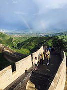 CHENGDE, CHINA - JUNE 15: (CHINA OUT) <br /> <br /> Double Rainbow appear above Jinshanling section of the Great Wall after the thunderstorm at Luanping County on June 15, 2016 in Chengde, Hebei Province of China.<br /> ©Exclusivepix Media