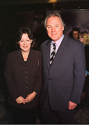 MR & MRS PETER SISSONS, he is the news reader, at a party in London on 19th March 1998.MGD 34