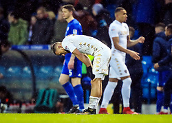 Leeds United's Kemar Roofe looks dejected at full time. Leeds United's and Cardiff City's at Elland Road stadium.