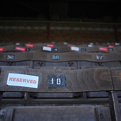 TELFORD COPYRIGHT MIKE SHERIDAN A general view of seating at Bootham Crescent during the Vanarama Conference North fixture between AFC Telford United and York City at Bootham Crescent on Saturday, January 11, 2020.<br /> <br /> Picture credit: Mike Sheridan/Ultrapress<br /> <br /> MS201920-040