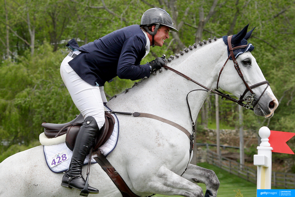 NORTH SALEM, NEW YORK - May 15: Quentin Judge, USA, riding HH Memphis, in action during The $50,000 Old Salem Farm Grand Prix presented by The Kincade Group at the Old Salem Farm Spring Horse Show on May 15, 2016 in North Salem. (Photo by Tim Clayton/Corbis via Getty Images)