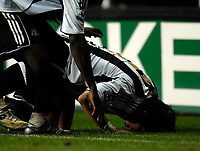 Photo: Jed Wee.<br /> Newcastle United v Reading. The Barclays Premiership. 06/12/2006.<br /> <br /> Newcastle's Emre kisses the pitch after scoring the winner.