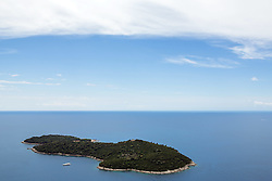 21.06.2015, Dubrovnik, CRO, Dubrovnik ist eine Stadt im südlichen Kroatien an der Adria, im Bild Panoramic view of Dubrovnik from Srdj Mountain. Lokrum island // is a city in southern Croatia on the Adriatic Sea, pictured on 17. June in Dubrovnik, Croatia on 2015/06/21. EXPA Pictures © 2015, PhotoCredit: EXPA/ Pixsell/ Grgo Jelavic<br /> <br /> *****ATTENTION - for AUT, SLO, SUI, SWE, ITA, FRA only*****