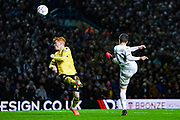 Leeds United midfielder Pablo Hernandez (19) takes a shot during the EFL Sky Bet Championship match between Leeds United and Millwall at Elland Road, Leeds, England on 28 January 2020.
