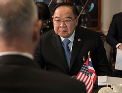 April 23, 2018 - Washington, District of Columbia, U.S. - Defense Secretary meets with His Excellency PRAWIT WONGSUWON, Minister of Defence for the Kingdom of Thailand at the Pentagon in Washington, D.C., April 23, 2018. (Credit Image: ? DOD via ZUMA Wire/ZUMAPRESS.com)