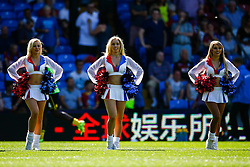 The Crystals cheerleaders take to the field before the match - Mandatory byline: Jason Brown/JMP - 07966386802 - 22/08/2015 - FOOTBALL - London - Selhurst Park - Crystal Palace v Aston Villa - Barclays Premier League