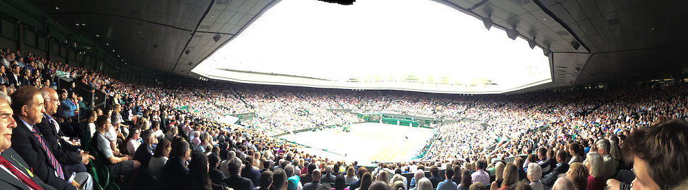 The All England Lawn Tennis Championship 2014. 28th June 2014.<br /> Picture shows - Centre Court views