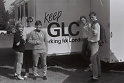 Teenagers at GLC festival, London, UK, 1984