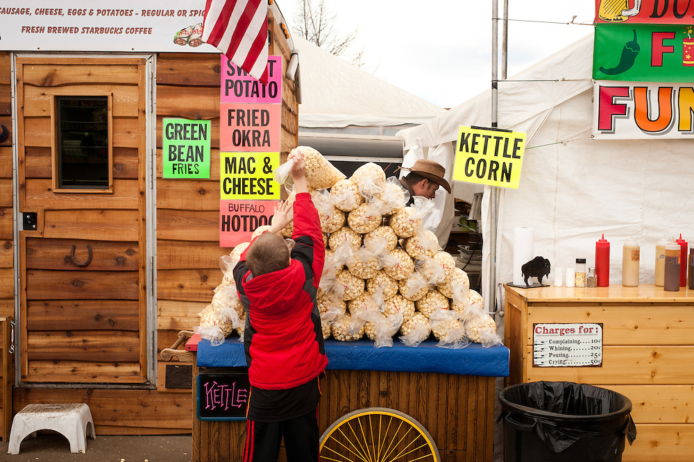 Kettle corn for sale.
