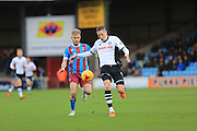 Luke Williams, Jim McNulty during the Sky Bet League 1 match between Scunthorpe United and Rochdale at Glanford Park, Scunthorpe, England on 28 December 2015. Photo by Daniel Youngs.